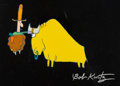 Animation Art:Production Cel, City Slickers Opening Title Production Cel and MatchingAnimation Drawing (Columbia/Kurtz and Friends, 1991). ... (Total: 2Items)
