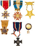 Military & Patriotic:Civil War, Outstanding Medal Group Identified to James Bolles Coit, Connecticut 14th Infantry, Wounded Six Times During the War.... (Total: 6 Items)