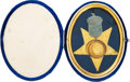 Military & Patriotic:Civil War, Fantastic Badge of the 14th Army Corps, Army of the Cumberland Tableau Identified to Private Henry Elver, 9th Ohio Volunteer I...