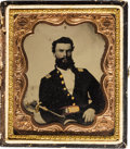 Photography:Tintypes, [Civil War]. Tintype of a Union Soldier....