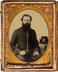 Photography:Tintypes, [Civil War]. Tintype of Unidentified Cavalry Soldier....