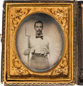 Photography:Ambrotypes, Civil War Sixth Plate Ambrotype....