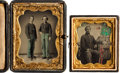 Photography:Daguerreotypes, [Civil War]. Two Cased Daguerreotypes of Union Soldiers.... (Total: 2 Items)