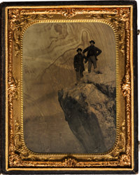 [Civil War]. Tintype of Two Soldiers at Lookout Mountain