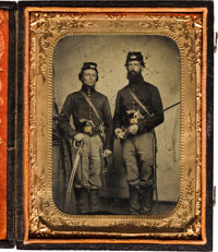 [Civil War]. Tintype of Two Unidentified Artillery Soldiers