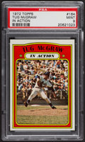 Baseball Cards:Singles (1970-Now), 1972 Topps Tug McGraw In Action #164 PSA Mint 9 - Only Four Higher....
