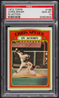 Baseball Cards:Singles (1970-Now), 1972 Topps Chris Speier In Action #166 PSA Gem MT 10. ...
