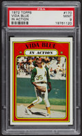 Baseball Cards:Singles (1970-Now), 1972 Topps Vida Blue In Action #170 PSA Mint 9 - Only Two Higher. ...