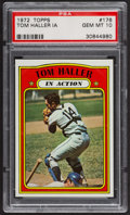 Baseball Cards:Singles (1970-Now), 1972 Topps Tom Haller In Action #176 PSA Gem MT 10 - Pop Five. ...
