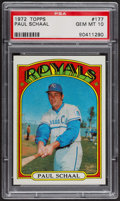 Baseball Cards:Singles (1970-Now), 1972 Topps Paul Schaal #177 PSA Gem MT 10 - Pop Four. ...