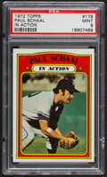 Baseball Cards:Singles (1970-Now), 1972 Topps Paul Schaal In Action #178 PSA Mint 9 - Only One Higher. ...