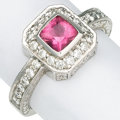 Estate Jewelry:Rings, Pink Tourmaline, Diamond, White Gold Ring, Penny Preville . ...