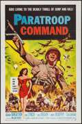 "Movie Posters:War, Paratroop Command (American International, 1959). Flat Folded OneSheet (27"" X 41""). War.. ..."