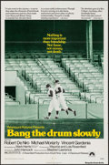 """Movie Posters:Sports, Bang the Drum Slowly (Paramount, 1973). Folded, Fine/Very Fine. One Sheet (27"""" X 41"""") & Lobby Cards (4) (11"""" X 14""""). Sports.... (Total: 5 Items)"""