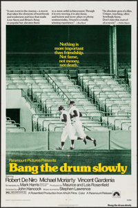 "Bang the Drum Slowly (Paramount, 1973). Folded, Fine/Very Fine. One Sheet (27"" X 41"") & Lobby Cards (4..."