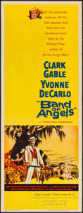 "Movie Posters:Drama, Band of Angels (Warner Brothers, 1957). Insert (14"" X 36""). Drama....."