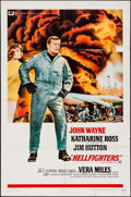 "Movie Posters:Action, Hellfighters (Universal, 1969). Folded, Fine/Very Fine. One Sheet(27"" X 41""). Action.. ..."