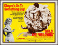 "Movie Posters:Sexploitation, Girls are for Loving (Continental, 1973). Half Sheet (22"" X 28"").Sexploitation.. ..."