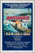 """Movie Posters:War, Midway & Other Lot (Universal, 1976). One Sheet (27"""" X 41"""")Style B & Lobby Cards (7) (11"""" X 14""""). War.. ... (Total: 8Items)"""