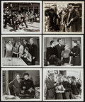 """Movie Posters:Crime, Jackie Cooper in Streets of New York & Others Lot (Monogram,1939). Photos (6) (Approx. 8"""" X 10""""), Lobby Card (11"""" X 14""""),&... (Total: 8 Items)"""