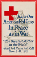 "Movie Posters:War, Third Red Cross Roll Call (American Red Cross, 1919). Poster (19"" X29.75""). War.. ..."