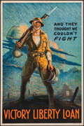 "Movie Posters:War, World War I Propaganda (U.S. Dept. of the Treasury, 1919). VictoryLiberty Loan Poster (20"" X 30"") ""And They Thought We Coul..."