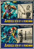 "Movie Posters:Documentary, America as Seen by a Frenchman (Cineriz, 1960). Italian Photobustas (2) (19"" X 27""). Documentary.. ... (Total: 2 Items)"
