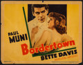 """Movie Posters:Crime, Bordertown (Warner Brothers, R-1937). Linen Finish Title Lobby Card(11"""" X 14""""). Crime.. ..."""