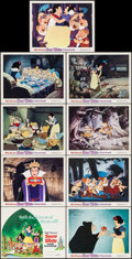 "Movie Posters:Animation, Snow White and the Seven Dwarfs (Buena Vista, R-1975). Lobby Card Set of 9 (11"" X 14""). Animation.. ... (Total: 9 Items)"