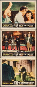 "Movie Posters:James Bond, Goldfinger (United Artists, 1964). Lobby Cards (3) (11"" X 14"").James Bond.. ... (Total: 3 Items)"