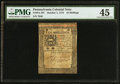Colonial Notes:Pennsylvania, Pennsylvania October 1, 1773 10s PMG Choice Extremely Fine 45.. ...