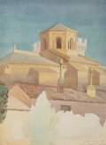Fine Art - Work on Paper:Watercolor, Dunbar Dyson Beck (American, 1902-1986). Palais des Papes,Avignon and Toledo (two works), 1928. Watercoloron p... (Total: 2 Items)