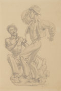 Fine Art - Work on Paper:Drawing, Dunbar Dyson Beck (American, 1902-1986). Figural Studies(four works), 1938. Pencil on paper, each. 12 x 11-1/8 inches (...(Total: 4 Items)