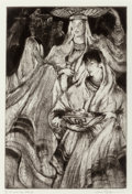 Fine Art - Work on Paper:Print, Gene Kloss (American, 1903-1996). All Soul's Day Offeringsand All Soul's Day Pilgrimage (two works), 1970;1982... (Total: 2 Items)