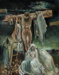 Fine Art - Painting, American, Xavier González (American, 1898-1993). Golgotha, 1987. Oilon canvas. 50 x 40 inches (127 x 101.6 cm). Initialed lower r...