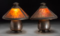 Lighting:Lamps, A Pair of Old Mission Kopperkraft Arts & Crafts-Style Hammered Copper Table Lamps. Marks: (logotype). 11 inches high x 10-1/... (Total: 4 Items)