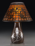 Lighting:Lamps, A Heintz Arts & Crafts Patinated Bronze and Silver Overlay Thistle Table Lamp, early 20th century. 13-1/2 inches... (Total: 2 Items)
