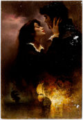 Original Comic Art:Covers, George Ziel - Romance Paperback Novel Cover Painting Original Art(c. 1980-90s)....