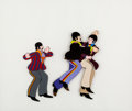 Animation Art:Production Cel, The Beatles Yellow Submarine John, Paul, and RingoProduction Cel Setup (United Artists/King Features, 1968). ...