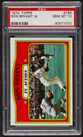 Baseball Cards:Singles (1970-Now), 1972 Topps Ron Bryant In Action #186 PSA Gem MT 10. ...