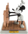 "Memorabilia:Disney, Mickey Mouse ""Steamboat Willie"" Limited Edition Ceramic Bisque(Walt Disney, 1992). ... (Total: 3 Items)"