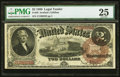 Large Size:Legal Tender Notes, Fr. 50 $2 1880 Legal Tender PMG Very Fine 25.. ...