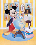 "Animation Art:Poster, ""Mickey at 60"" Mickey Mouse Limited Edition Lithograph #202/4200(Walt Disney, 1988). ..."