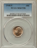 Roosevelt Dimes, 1948-S 10C MS67 Full Bands PCGS. PCGS Population: (117/3). NGC Census: (126/6). Mintage 35,520,000. ...