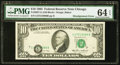 Error Notes:Shifted Third Printing, Misalignment Error Fr. 2027-G $10 1985 Federal Reserve Note. PMG Choice Uncirculated 64 EPQ.. ...