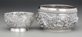Asian:China Trade, A Luen Wo Chinese Export Silver Bowl with Burmese Silver Bowl, circa 1900. Marks to smaller: LUEN-WO, (character mark). ... (Total: 2 Items)