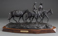 Sculpture, Melvin Charles Warren (American, 1920-1995). Texas Ranger on Patrol, 1972. Bronze with black patina. 11-1/2 inches (29.2...