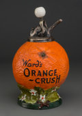 Ceramics & Porcelain, American:Modern  (1900 1949)  , A Ward's Orange Crush Ceramic Syrup Dispenser, circa 1916. 14-1/8inches high (35.9 cm). PROPERTY FROM THE COLLECTION OF M...