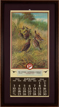 Ammunition, The Peters Cartridge Company Framed Chromolithograph 1926 Calendar....