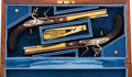 Handguns:Muzzle loading, Uberti Hamilton-Burr Limited Edition Cased Replica Dueling Pistols.... (Total: 2 Items)